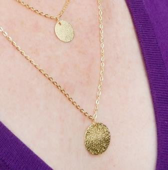 18k Gold or Silver Plated Disc Necklace