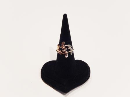 18k Gold Plated Laurel Branch Ring