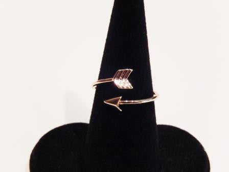 18k Gold Plated Adjustable Arrow Ring - Jewelry Jills