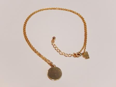 Tiny 18k Gold Filled Disc Necklace