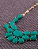 Emerald or Black Flower Statement Choker Necklace for Women