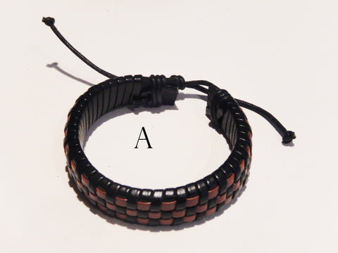 Woven Leather Wristbands
