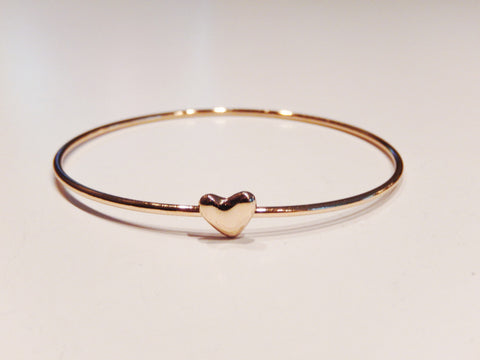 """Good Karma"" Gold Heart Wishing Bracelet"