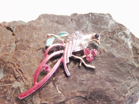 Elegant Crystal Bird Brooch