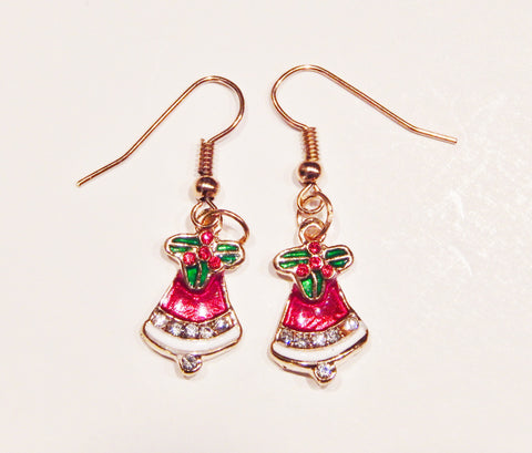 Enamel Christmas Earrings