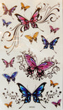 Halloween Colorful Butterflies Temporary Tattoos