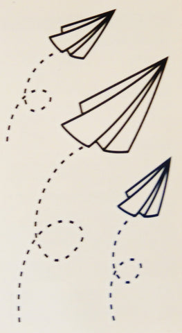 Paper Airplane Temporary Tattoos