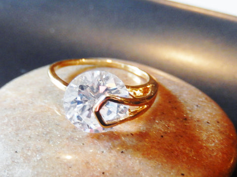 18K Gold Plated Cubic Zirconia Promise Ring