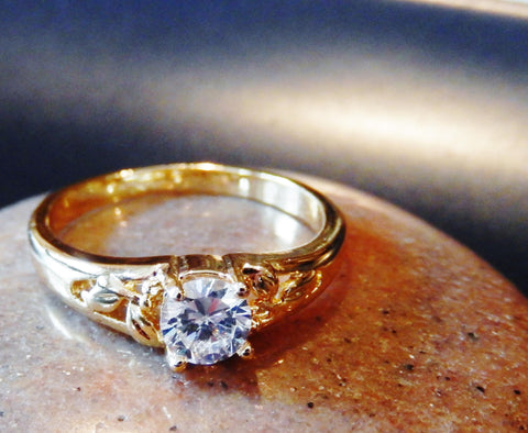 18k Gold Plated Austrian Crystal Ring - Jewelry Jills