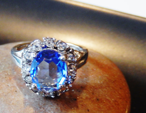 Beautiful Platinum Plated Austrian Crystal Ring