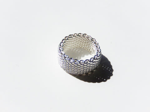 925 Sterling Silver Woven Net Ring