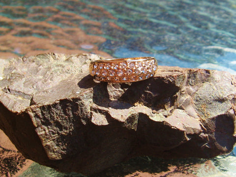 18K Gold Plated Cocktail Ring with Austrian Crystals