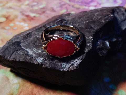 Mens Classic Red Stone Ring