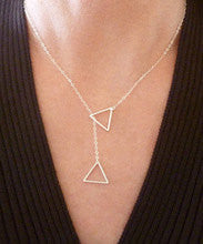 18k Gold or 925 Silver Plated Triangle Necklace