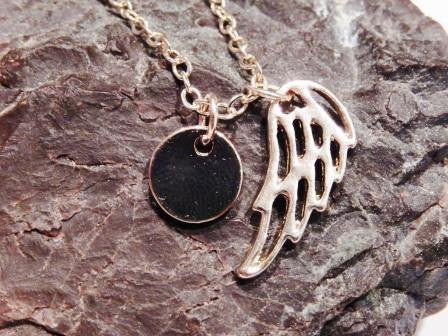 14k Gold Filled Angel Wing Necklace