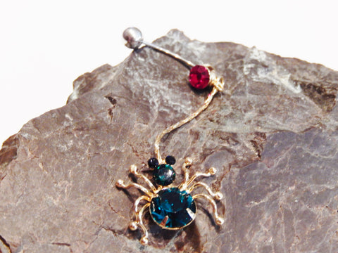 Gothic Spider Belly Ring