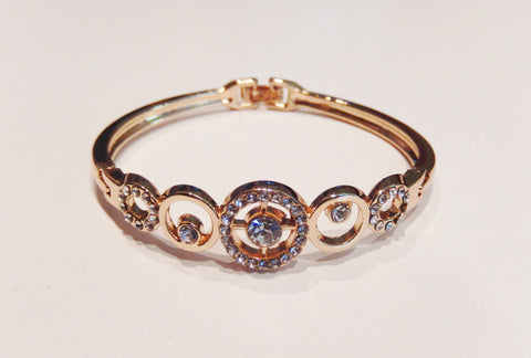 18k Gold Filled Clear Austrian Crystal Bracelet