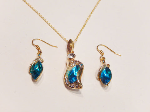 Austrian Crystals Necklace and Earrings Jewelry Sets