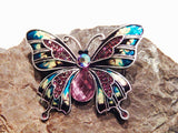 Colorful Enamel Butterfly Brooch