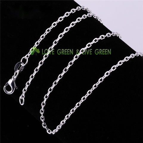 925 Sterling Silver Square Link Chain 16 18 20 22 24 Inches