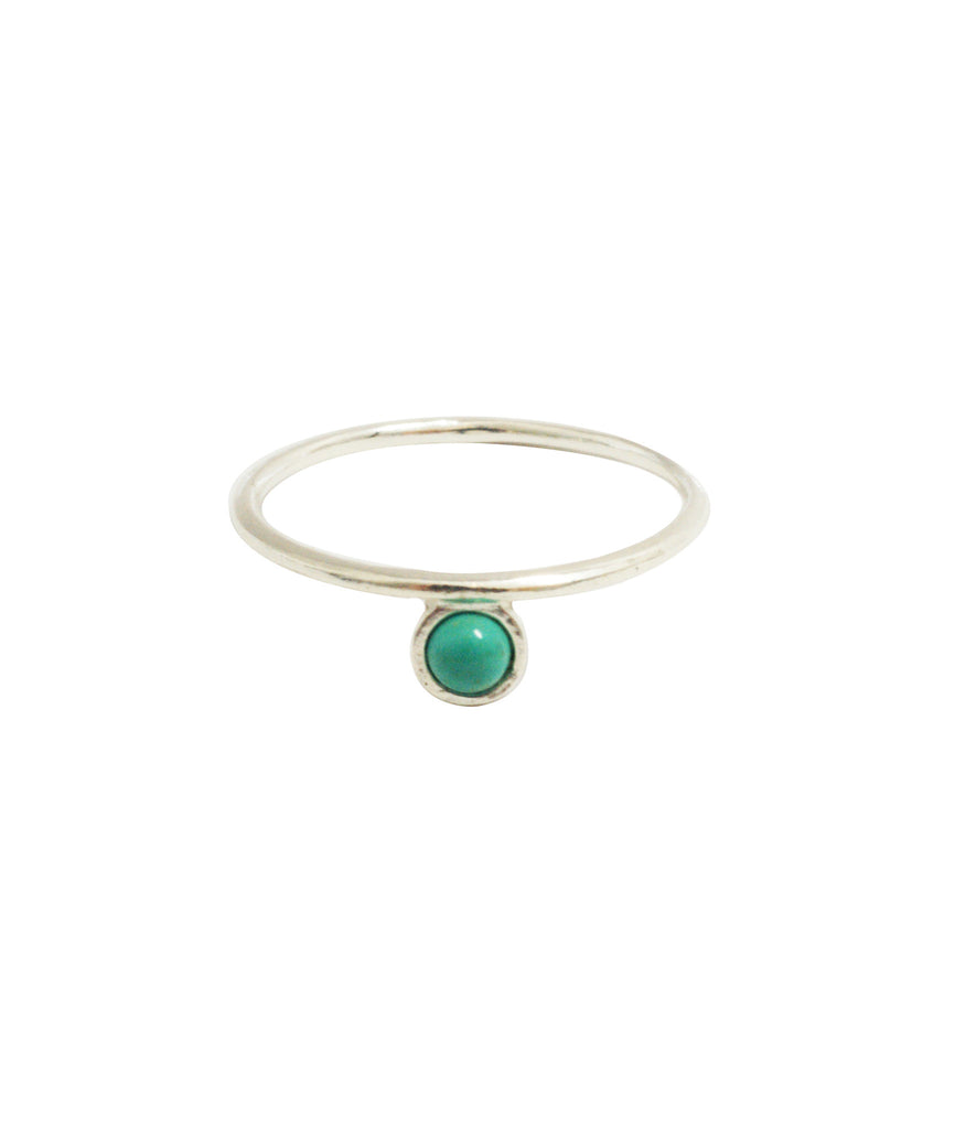 Islet Ring, 5 / Silver / Turquoise, Rings, blairlimnyblairlimny