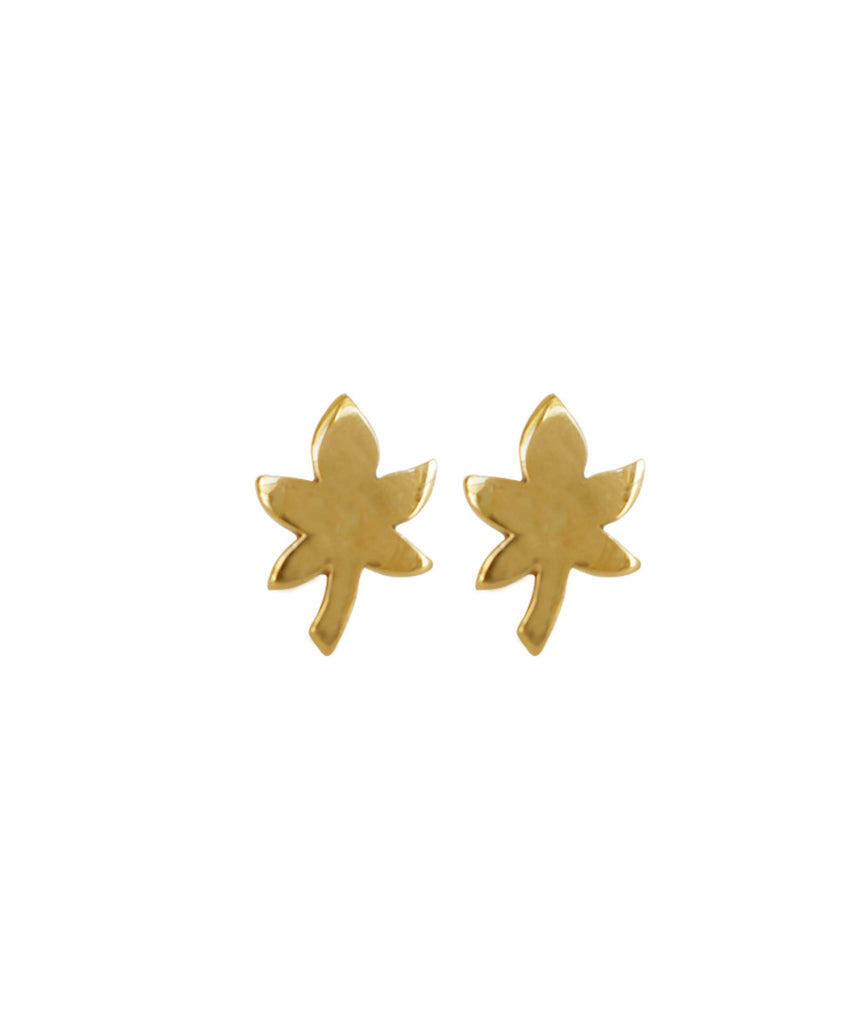 Maple Stud Earrings, 10K Gold, Earrings, blairlimnyblairlimny