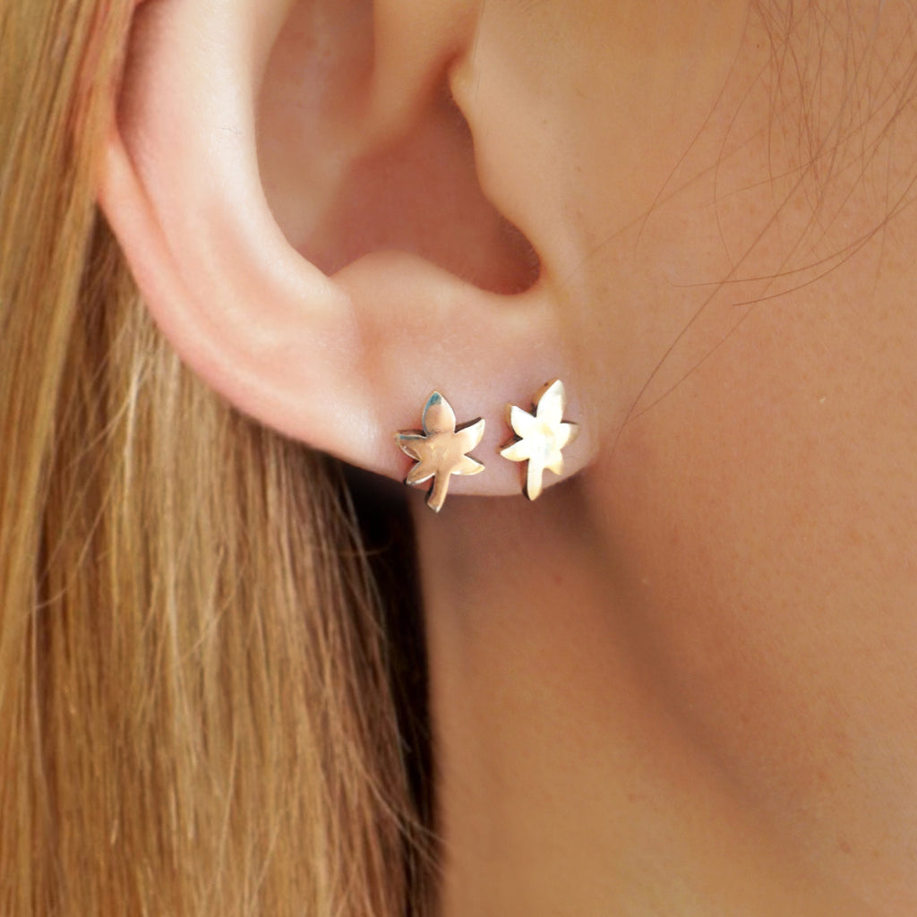 Maple Stud Earrings, , Earrings, blairlimnyblairlimny