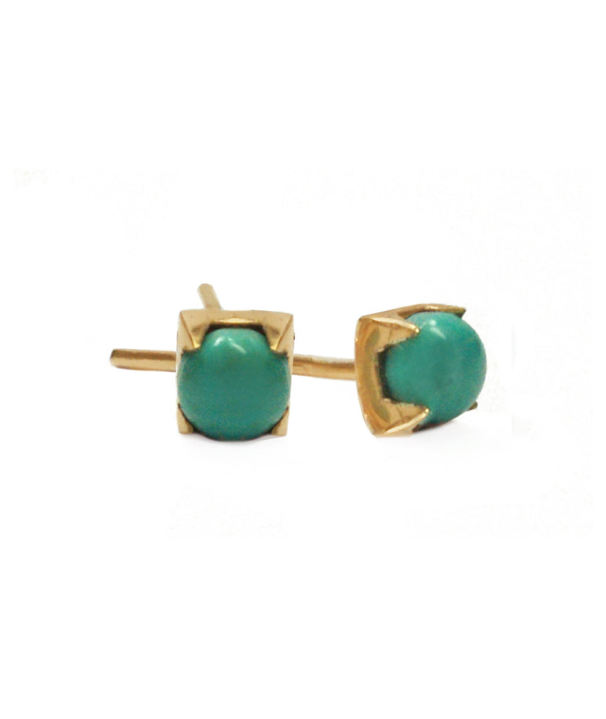 Uno Earrings, 10K Gold / Turquoise, , blairlimnyblairlimny
