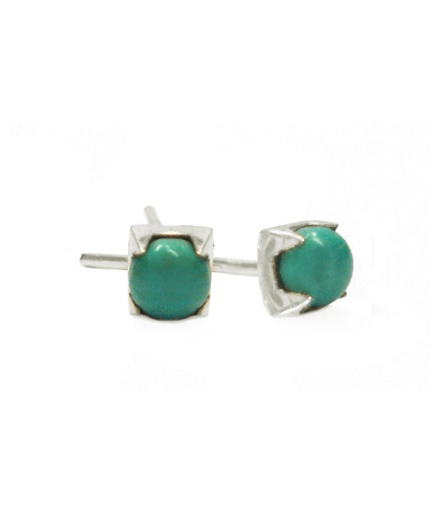 Uno Earrings, Sterling Silver / Turquoise, , blairlimnyblairlimny