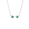 Twin Necklace, Silver / Turquoise, Necklaces, blairlimnyblairlimny