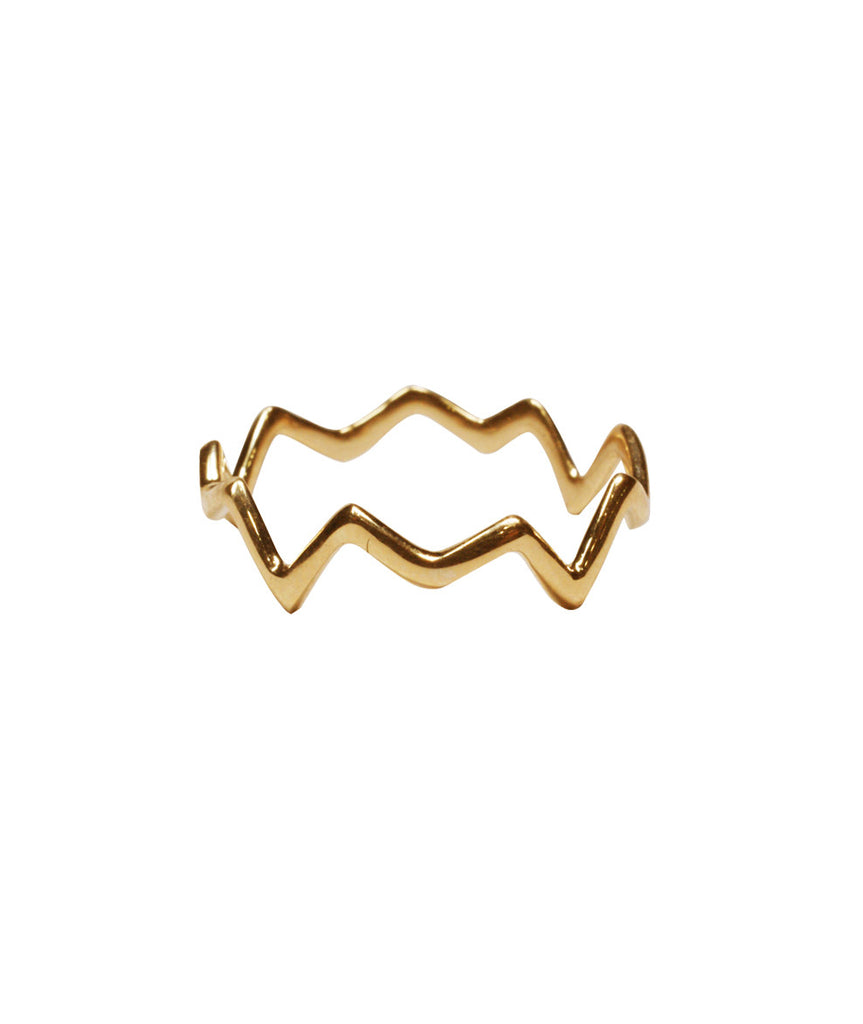 Geometric Ring, 5 / 10K Gold, Rings, blairlimnyblairlimny