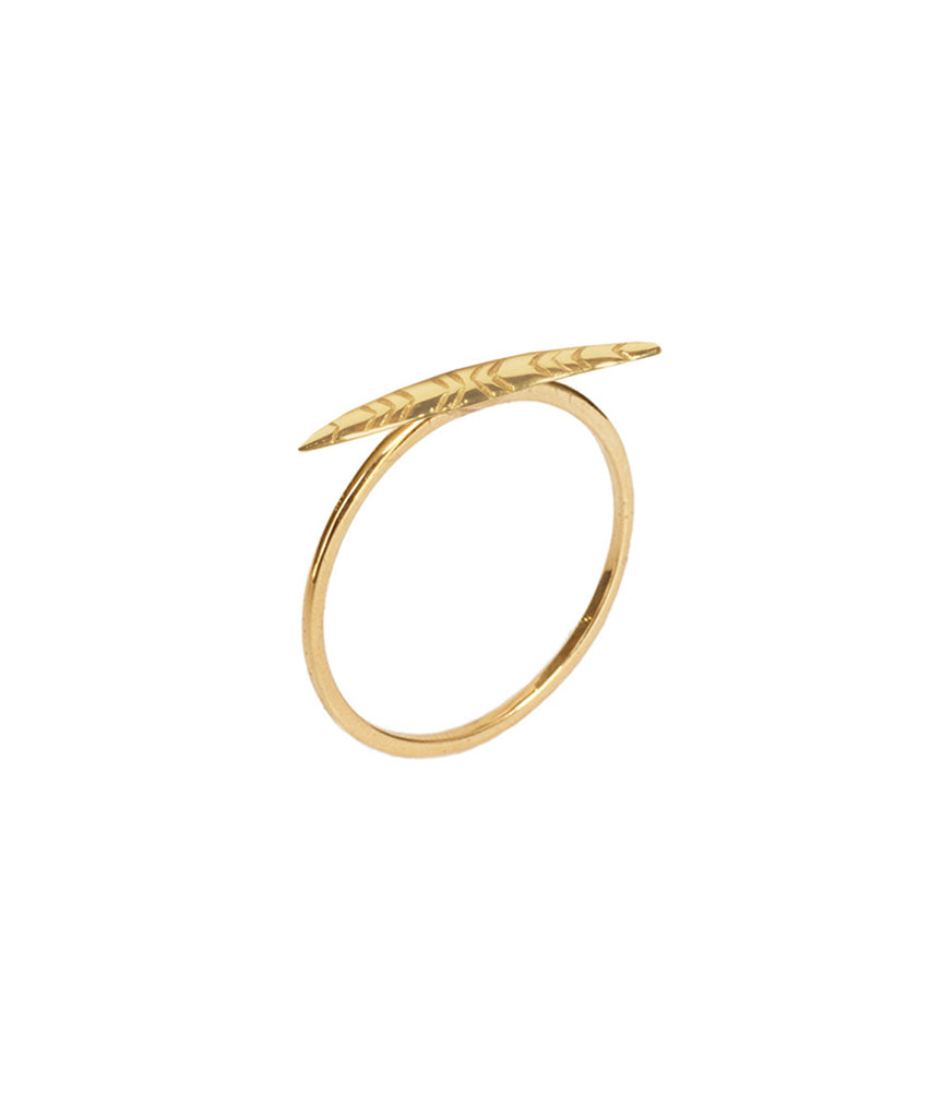 Leaf Ring, 5 / 10K Gold, Rings, blairlimnyblairlimny
