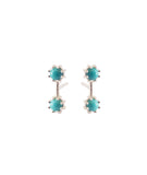 Twin Stud Earrings, Sterling Silver / Turquoise, Earrings, blairlimnyblairlimny