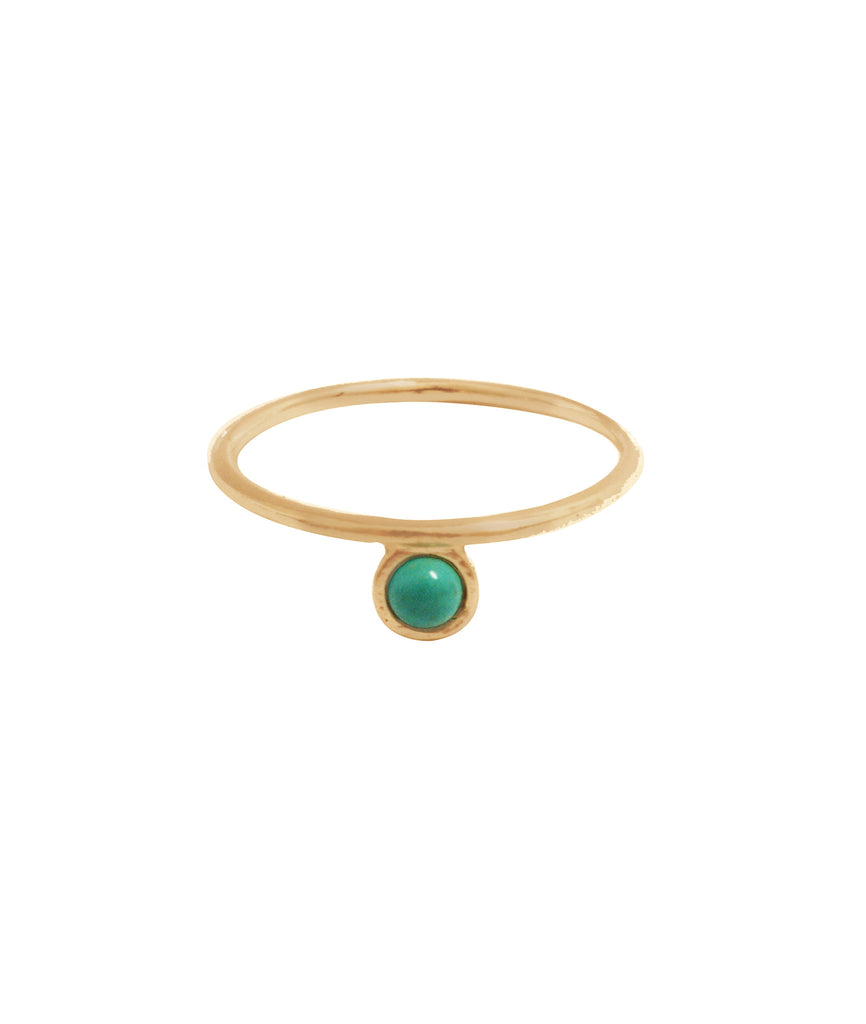 Islet Ring, 5 / Gold / Turquoise, Rings, blairlimnyblairlimny