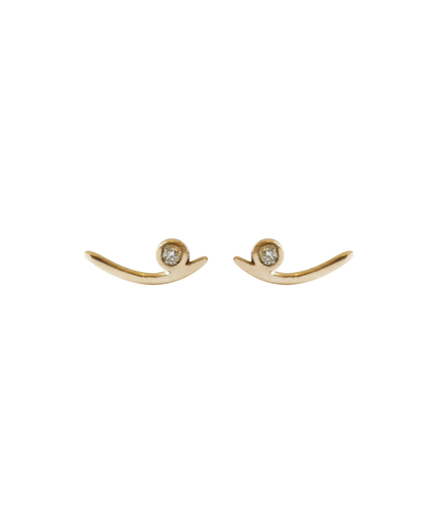 Arc Stud Earrings, GOLD, Earrings, blairlimnyblairlimny