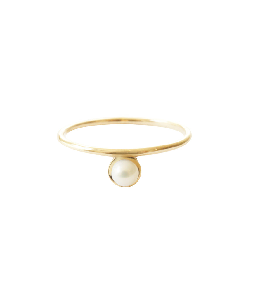 Islet Ring, 8 / Gold / Pearl, Rings, blairlimnyblairlimny