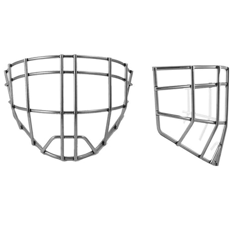Cheater Style Stainless Steel Replacement Goalie Mask Cage