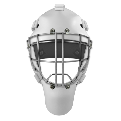 Pro Spec D1 Goalie Mask <br>Cheater Cage<br>WHT/CHR