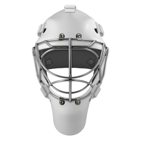 Pro Spec D1 Goalie Mask <br>Cat Eye Cage<br>WHT/CHR
