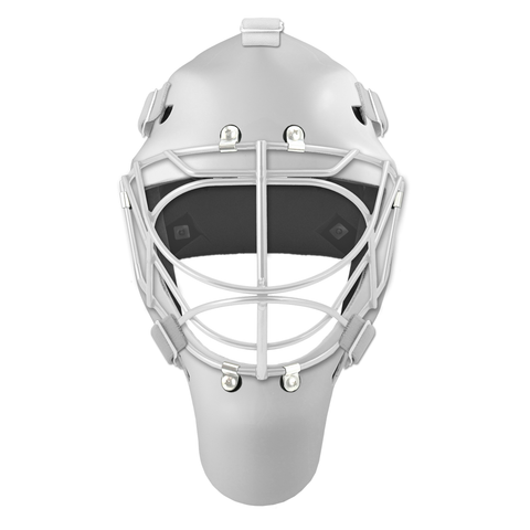 Pro Spec D1 Goalie Mask <br>Cat Eye Cage<br>WHT/WHT