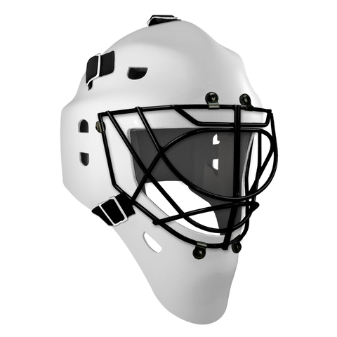 Pro Spec D1 Goalie Mask <br>Cat Eye Cage<br>WHT/BLK