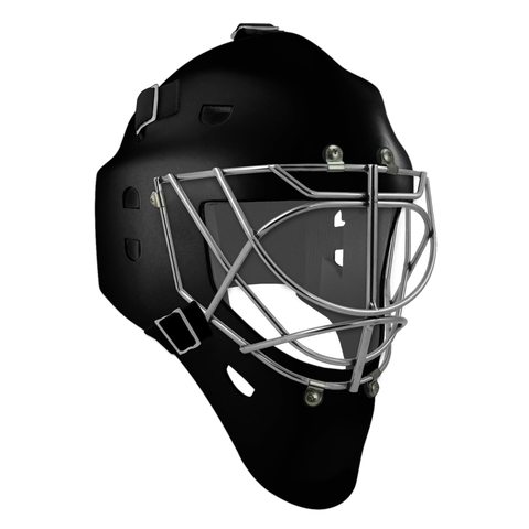 Pro Spec D1 Goalie Mask <br>Cat Eye Cage<br>BLK/CHR