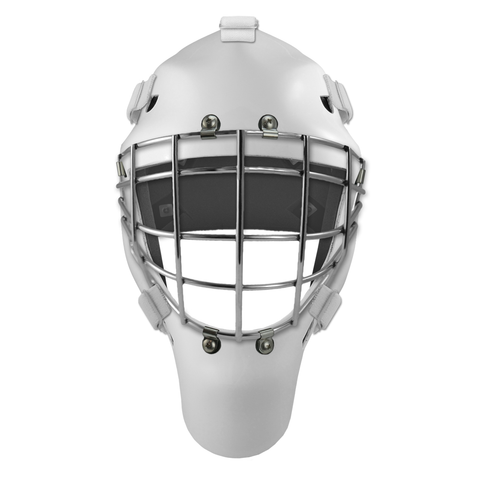 Pro Spec D1 Goalie Mask <br>Approved Grid Cage<br>WHT/CHR