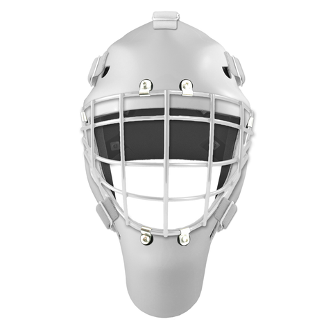 Pro Spec D1 Goalie Mask <br>Approved Grid Cage<br>WHT/WHT