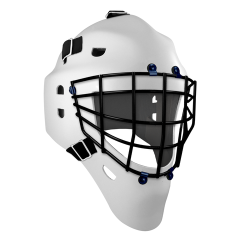 Pro Spec D1 Goalie Mask <br>Approved Grid Cage<br>WHT/BLK
