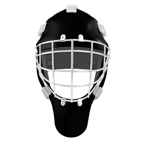 Pro Spec D1 Goalie Mask <br>Approved Grid Cage<br>BLK/WHT