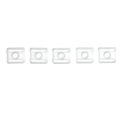 5 Pack Plastic Back Pad Buckles