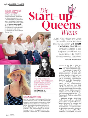 KUKLA Start-Up-Queens Wien Woman Artikel