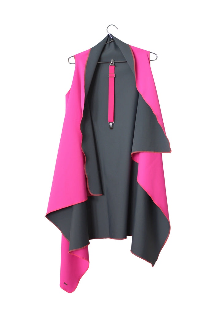 Neon-KUKLA pink/grey with one pink clip included - MADAME KUKLA