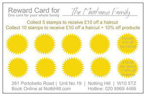 Family Hair Loyalty Card
